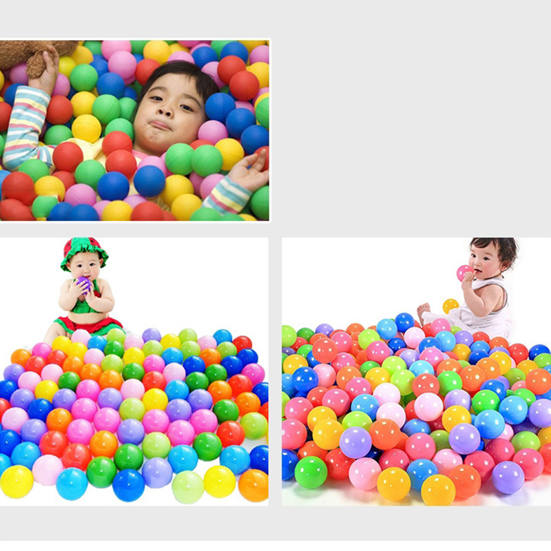 100pcs/lot 5.5CM Colorful Soft Plastic Water Pool Ocean Ball Pits Kids Outdoor Toys Wave Ball Baby Air Ball Fun Sports