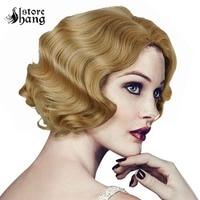 Ladies 1920s Vintage Wig Short Curly Flapper Wig Headwear Marilyn Monroe Wig Hair Womens Party Fancy Dress Costume Accessories