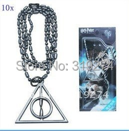 Fashion Cosplay Unique Cosplay Deathly Hallows Pendent Logo Metal Necklace
