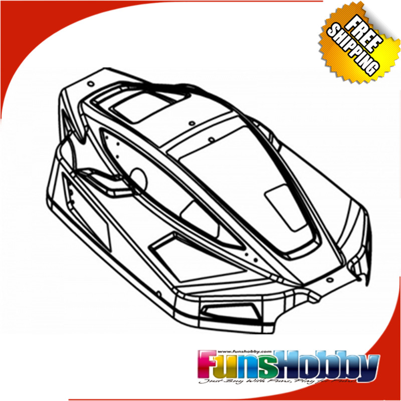 MCD Racing RR5 BODY SHELL KIT COMPLETE.COD.500101P