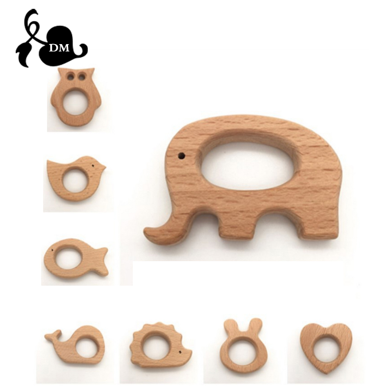 Wholesale 1000pcs Wooden Teether Nature Baby Teething Grasping Toy DIY Organic Eco friendly Wood Teething Accessories