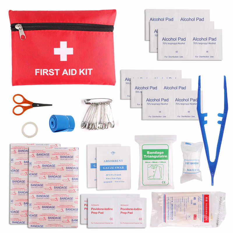12 Kinds/Pack Emergency Kits First Aid Kit Pouch Bag Travel Sport Rescue Medical Treatment Hiking Camping First Aid Kit