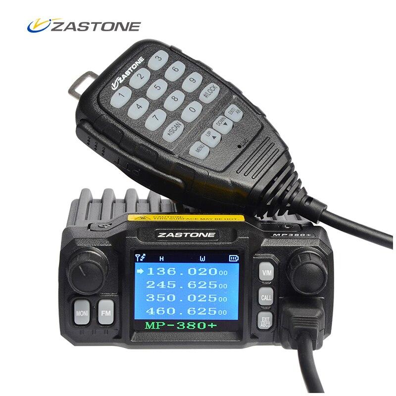 Zastone MP380 + Mini émetteur-récepteur Radio VHF/UHF 25 W/20 W Quad bandes 200CH talkie-walkie 10 KM voiture telsiz CB Radio