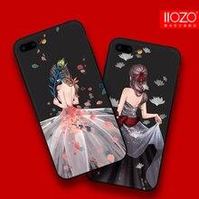 Iiozo роскошные свадебное платье для девочек Телефонные Чехлы для iPhone 6 6S 6 Plus 6S плюс ультра тонкий мягкий силиконовый чехол для чехол для iPhone 6