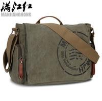 MANJIANGHONG 2017 Vintage Men S Postman Bag Handbags Canvas Shoulder Bag Mens Fashion Casual Crossbody