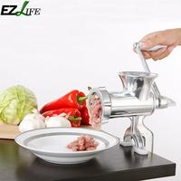EZLIFE 23.5*4*13cm Meat Grinder Manual Stainless Steel Mincer Sausage Grinder Meat Chopper Machine For Hamburger Mincer Jk1121