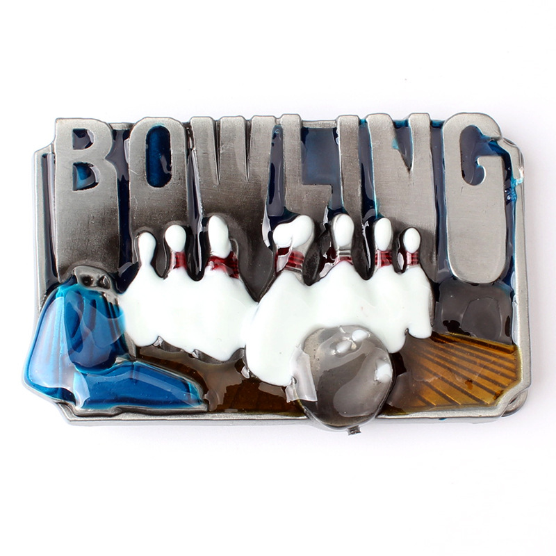 The Bowling Shape Metal Belt Buckle