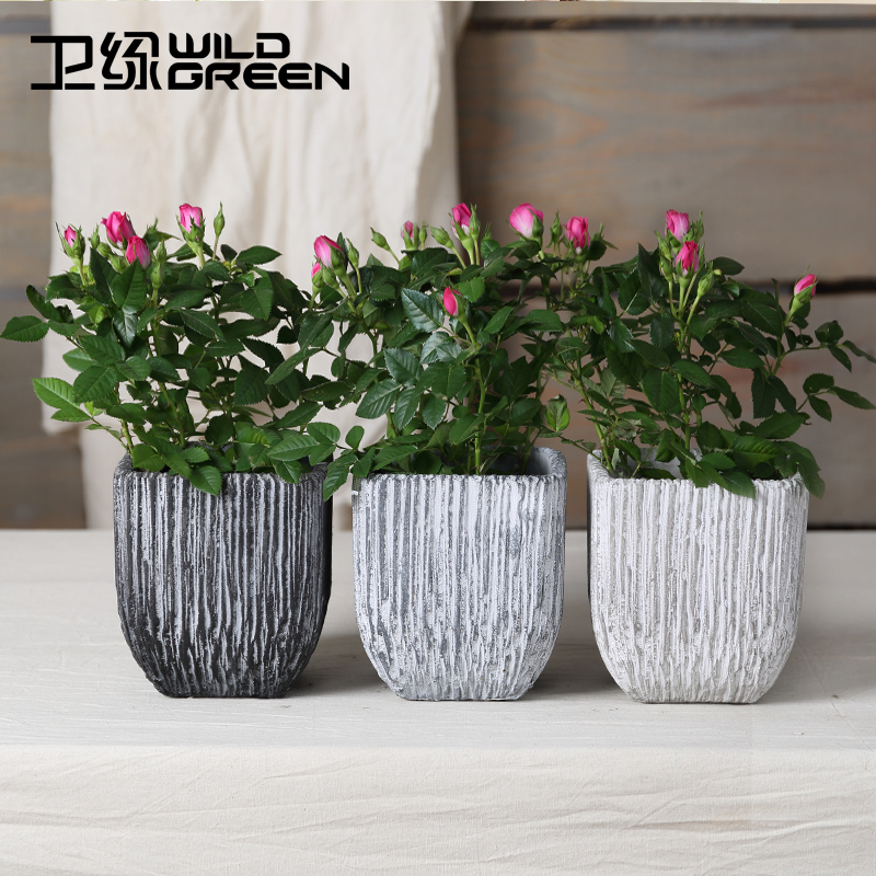 Mini New Material Table Plgrey Ant Flower Planter Pots Design Decorative Cement Garden House