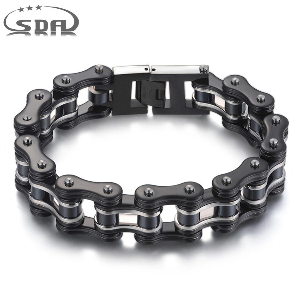 SDA 316L edelstahl Schmuck Mode Männer Armbänder & Armreifen schwarz 16mm breite Gemischten stil Punk Rock Schmuck 7,5