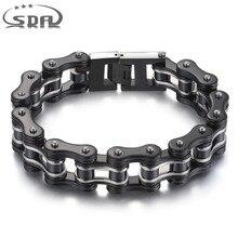 SDA 316L stainless steel Jewelry  Fashion Men Bracelets& Bangles black 16mm width Mixed style Punk Rock Jewelry 7.5″ 10″ YM011