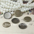 Free Shipping! Wholesale,100pcs 10-25mm Copper Photo Blank Pendant Round Tray Pad Cameo,Antique Bronze Jewelry Findings Setting