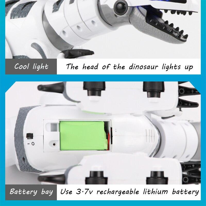 Oyuncaklar ve Hobi Ürünleri'ten Aksiyon ve Oyuncak Figürleri'de RC akıllı dinozor modeli elektrikli uzaktan kumandalı robot mekanik savaş ejderha müzik ve ışık ile fonksiyonlu çocuk hobi oyuncaklar'da  Grup 3