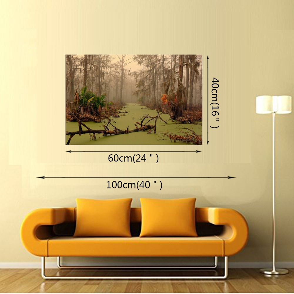 1 Panel HD printed canvas painting Foggy forest canvas print art ...