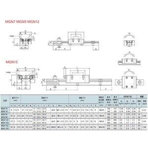 Image 5 - MGN MGN7 MGN12 MGN15 MGN9 300 350 400 450 500 600 800mm לינארי רכבת שקופיות 1pc MGN12 ליניארי מדריך + 1pc MGN12H תובלה