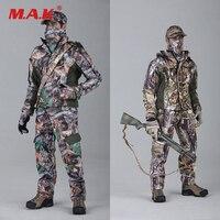 1/6 مقياس الرجال الملابس الصيد التمويه الكامل مجموعة اكسسوارات ل 12 بوصة عمل الشكل النادرة الشكل الملابس