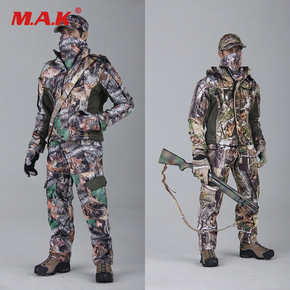 1/6 Scale Male Clothes Hunting Camouflage Complete Set Accessories for 12 inches Action Figure Collectible Figure Clothing 1 6 scale rifle gun model for 12 inches action figure accessories collections x80028 m700pss x80026 psg1