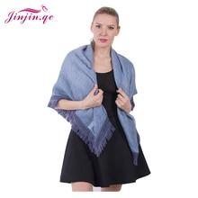 Jinjin.QC 2019 New Fashion Women Scarves and Shawls Solid Beach Blue Gray  With Fringe Echarpe Foulard Femme Drop Shipping