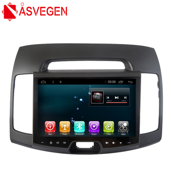 Asvegen 9 inch Android 6.0 Quad Core Car Radio For HYUNDAI Elantra 2007-2011 Android Wifi GPS Navigation Multimedia DVD Player