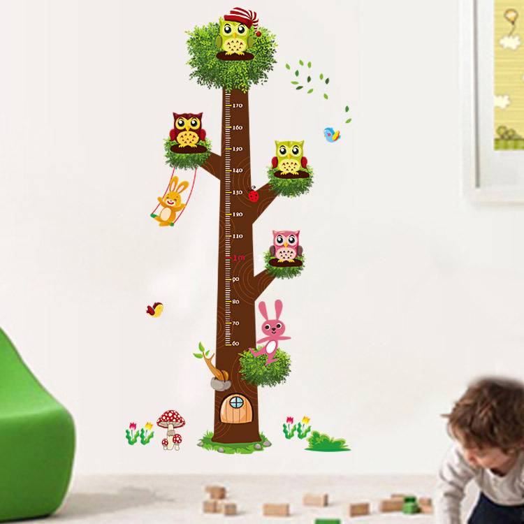 In stock large owl tree wall stickers bird nest decals for Bird and owl tree wall mural set