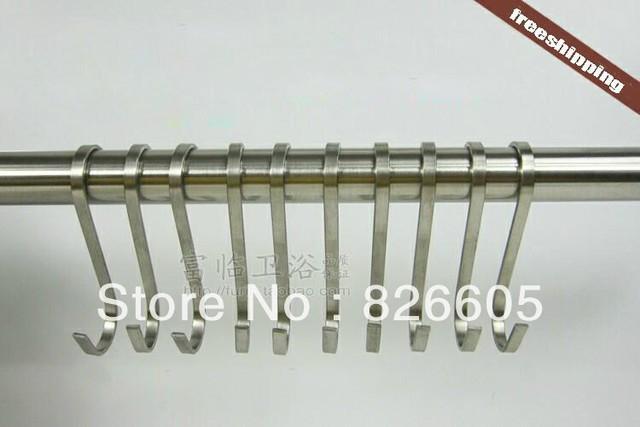 10 X S Hooks Kitchen Pot Pan Hanging Storage Flat Hanger Rail Holder