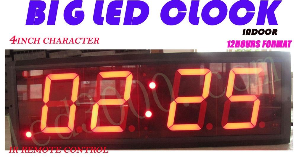 4palcové 4digitové vnitřní ledové hodiny (HIT4-4R)