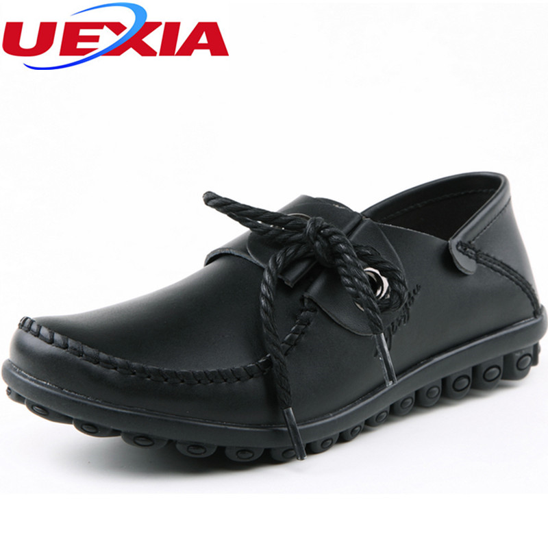 New Fashion Casual Women Shoes Leather Business Peas Breathable Flats Loafers PU Leather Female Driving Shoes Platform Moccasins muhuisen brand new fashion summer spring men driving shoes loafers real leather boat shoes breathable male casual flats loafers