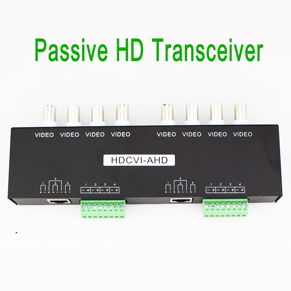 UTP 8CH HD PassiveTransceiver Real time Transmission CCTV Accessories Video Balun for HDCVI HDTVI AHD CCTV