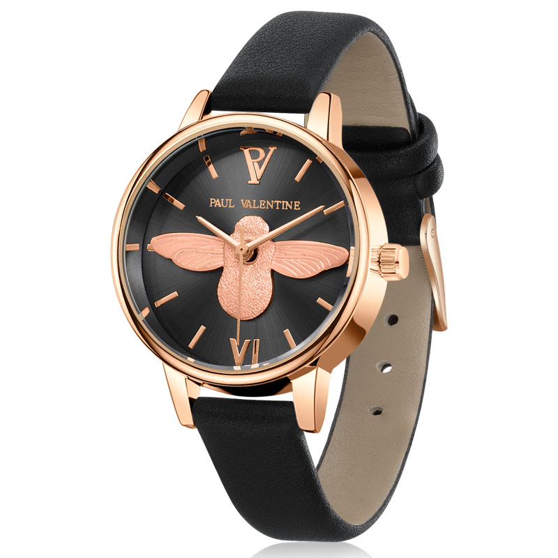 купить Women Watch New Arrival Fashion Casual Little Bee Watch Faceless 3D Dial Stainless Steel Quartz WristWatch Female Clock по цене 332.36 рублей