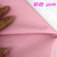Pink PU Leather Faux Leather Fabric Sewing PU Artificial Leather For Diy Bag Material Sold BY