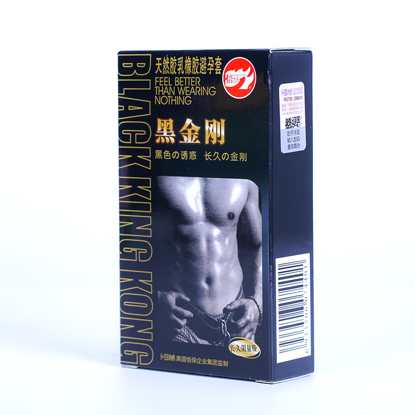 10PCS Natural Latex Condoms Durable Lasting Anti Premature Ejaculation Delay G Point Black Condom for Man Sex Products circumcision age and premature ejaculation