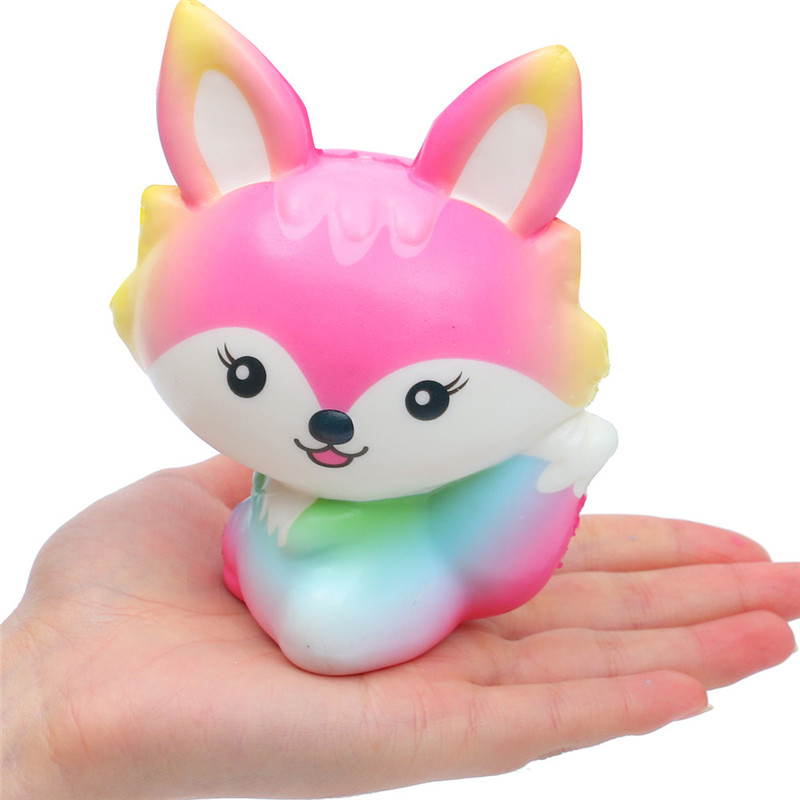 2019 Funny Squishi Squishy Animal Fox Anxiety And Stress Relief Toys Poopsie Slime Surprise Mouchi Mouchi Squishs Dropshipping 2