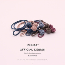 EUHRA 5 Colors Elastic Hand Knotted Ball For Women Hair Band Kid Children Rubber High Elasticity