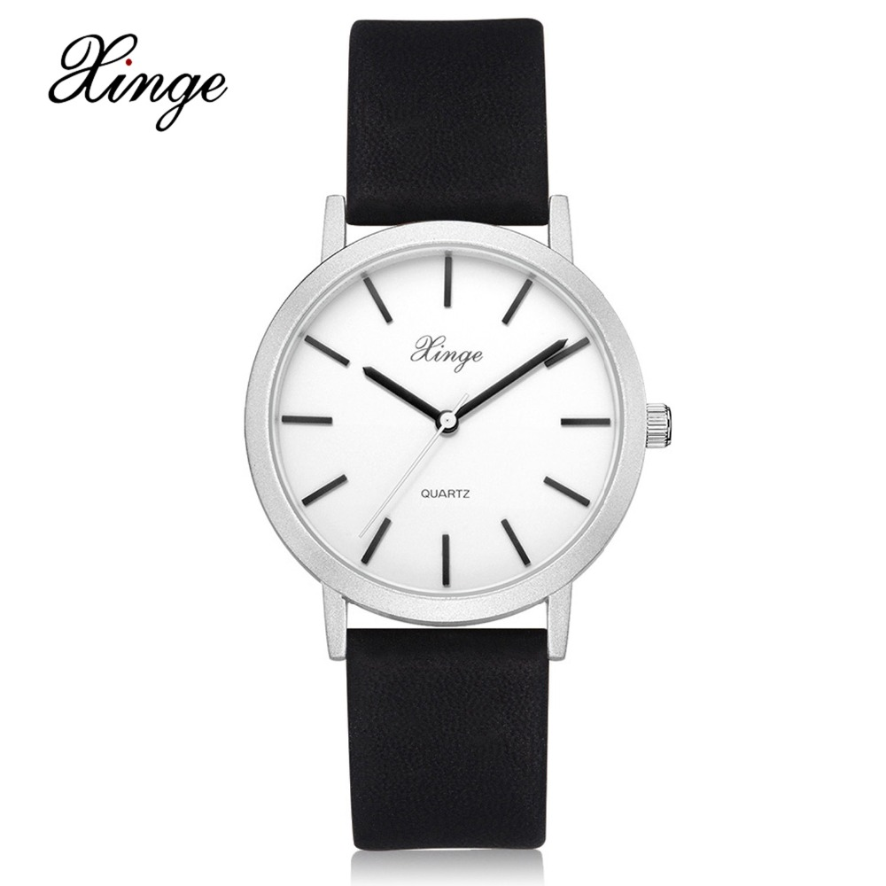 Xinge Brand 2017 Fashion Luxury Quartz Watches Women Leather Style Business Female Sport Dress Casual Ladies Gift Clock XG1072 xinge top brand luxury leather strap military watches male sport clock business 2017 quartz men fashion wrist watches xg1080