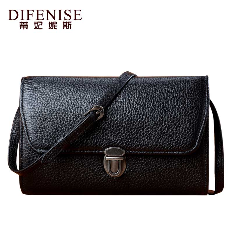 Difenise 2018 New Cowhide Women Genuine Leather Shoulder Bags Women Clutch Bag Fashion Luxury Solid Leather Clutch Women Bag