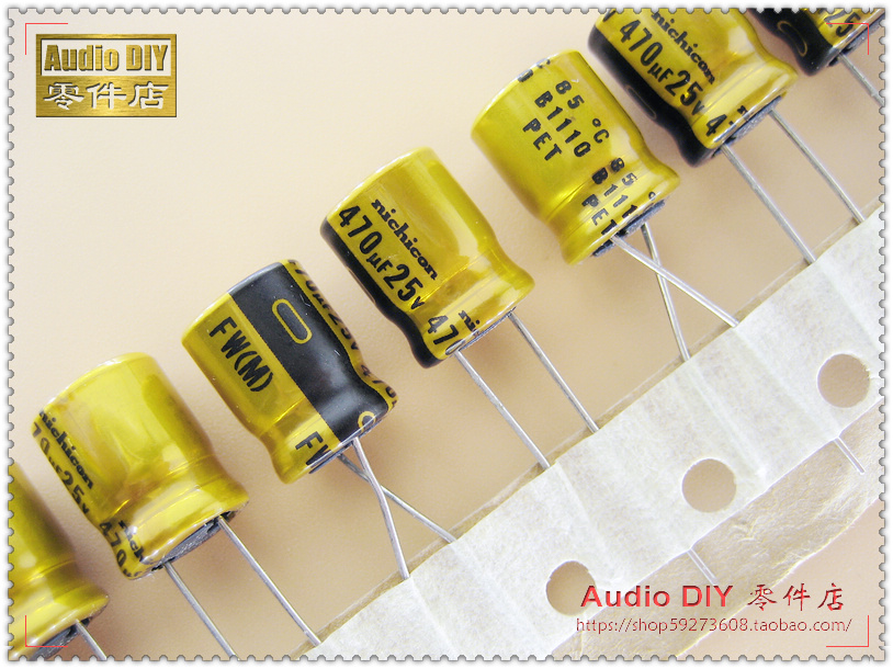2019 hot sale 10pcs 30pcs Nichicon FW series 470uF 25V electrolytic capacitor for audio free shipping in Capacitors from Electronic Components Supplies