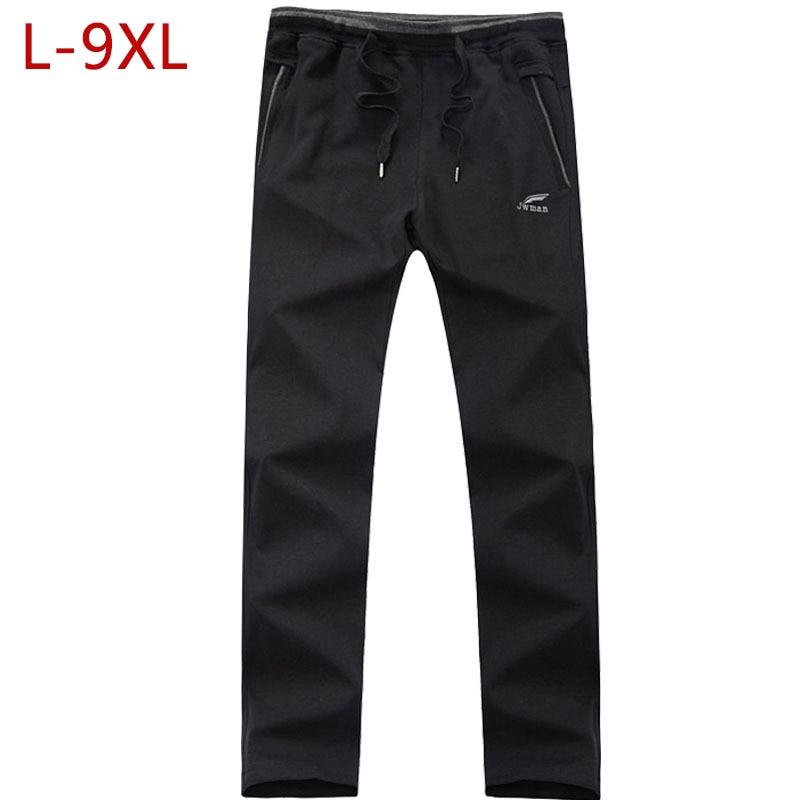 Нові прибуття сипучих чоловічі чорні брюки повсякденні мода100% бавовна дихаюча стиль штани чоловічі штани великого розміру 5XL