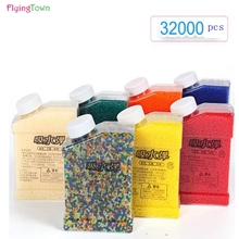 7-8mm Multicolour Crystal bullets 32000 Pcs/pack Water Guns Pistol Toys Growing Balls Mini Round Soil Beads