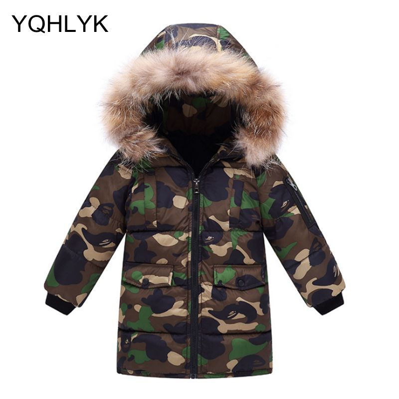 New Fashion Winter Cotton Boys Coat 2018 Korean Thick Hooded Zipper Camouflage Jacket Casual Warm Kids Clothes 4-11Y W7 2016 autumn and winter fashion explosion models men s warm thick cotton korean slim casual jacket