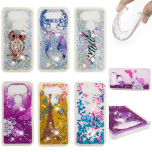 LUCKBUY Case Silicone For LG V20 V30 Soft TPU Flower Clear Liquid Quicksand Phone Cases V 20 / 30 Protector Fundas