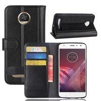 CYBORIS For Motorola MOTO Z2 Play Case Genuine Leather Case For Motorola MOTO Z2 Play Flip