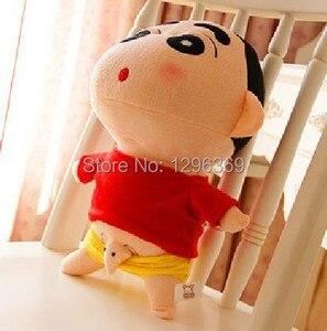 """Image 1 - Ücretsiz kargo 1 adet 35cm = 13.8 """"yaramaz Crayon Shin Chan peluş bebek japon animesi shin chan aksiyon figürü en iyi hediye"""