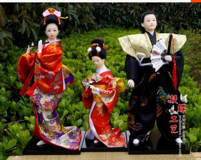 Master Japanese Geisha Doll Japan Furnishing Articles And Home Decoration Gift Silk Kimono
