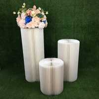 paper folding Pillar stand rack for Wedding cake flower food crafts display hotel wedding hall soft decorating exhibition stand