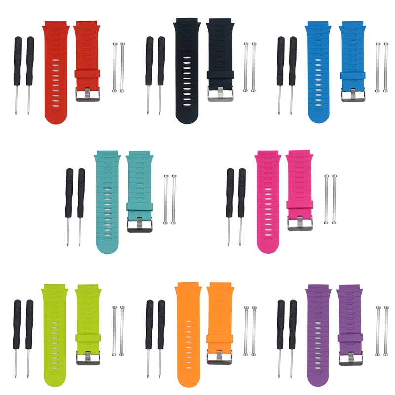 1 Set Replacement Silicone Watch Band Wrist Strap And Tool for Garmin Forerunner 920XT image