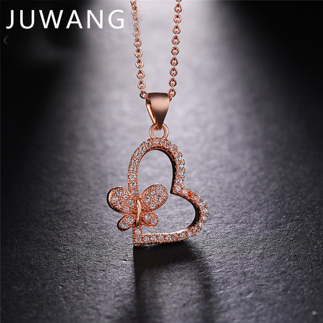 10pcs Heart Pendant Necklaces Romantic wedding Jewelry For Men Women Couple Butterfly Necklace Love Heart Anniversary Gift