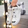 New Brand Fashion GD Casual Men PU Skate Shoes Breathable Men Flats Shoes High-top Mans Footwear Trainers Zapatos Hombre