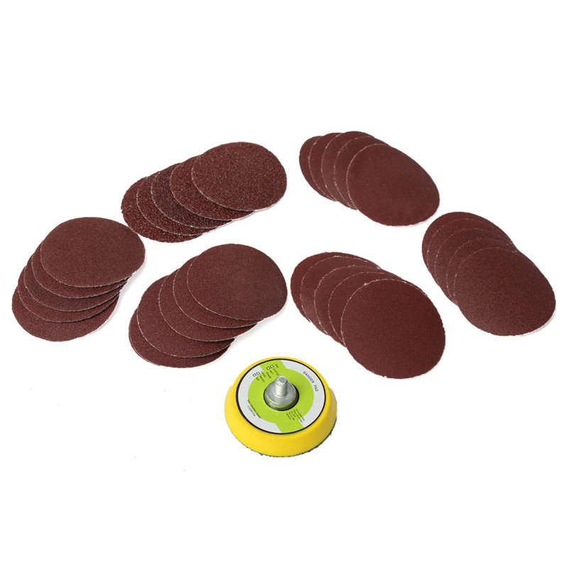 60pcs 2 Inch Multi Mix Grit Sander Disc Sanding Polishing Pad Drill Adapter Pneumatic Grinding Machine Chassis In Pads From Tools On