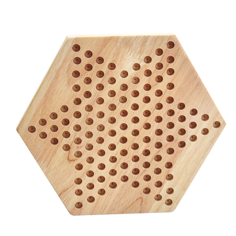 2018 New Education Math Toys Traditional Hexagon Wooden Chinese Checkers Family Game Toys Set for Kids Adults Gifts -17