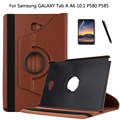 For Samsung GALAXY Tab A A6 10.1 P580 P585 Tablet case 360 Rotating Stand Leather Protective Tablet Cover + Film + Pen