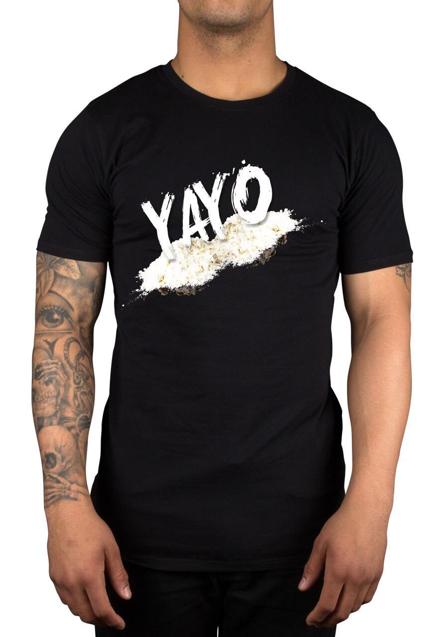 Yayo Graphic Slogan T-Shirt Pablo Escobar Money Coke Urban TV Colombia  Trap